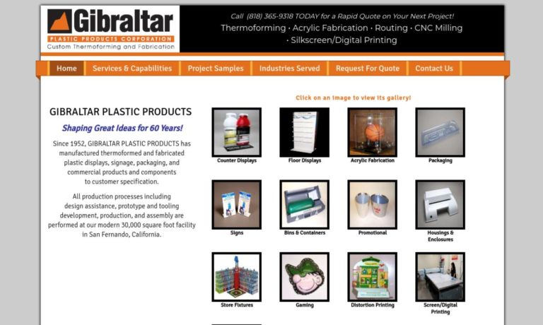 Gibraltar Plastic Products Corporation